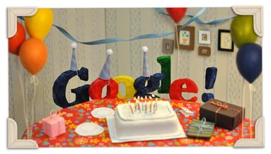 Google festeggia il 13° anniversario con nuovo Doodle