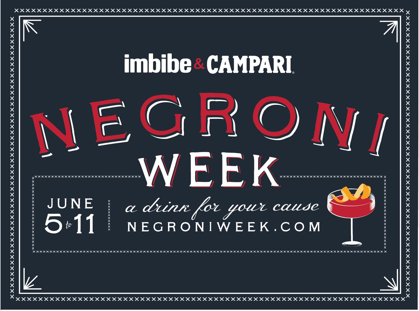 #NegroniWeek: l'iniziativa Campari a scopo benefico