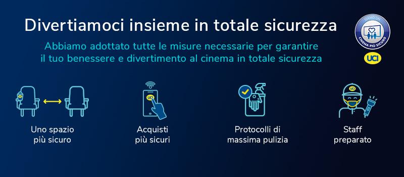 Siamo cinema più sicuri: UCI Cinemas riparte il 15 giugno con quattro multisale