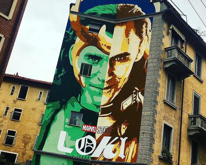 A Milano il grande murale dedicato a Loki!